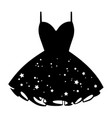 womens star print cocktail dress vector image vector image