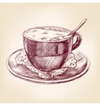 coffee cup hand drawn llustration realistic sketch vector image