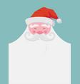 christmas greeting card happy santa with a beard vector image