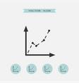diagram icon simple vector image