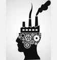 factory head vector image