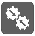 Gear Integration Flat Squared Icon vector image
