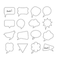 Speech Bubbles big hand drawn set vector image