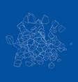 a bunch stones vector image