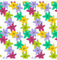 abstract hand drawn lily flower colorful seamless vector image vector image