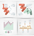 abstract infographics sketches set icons vector image vector image