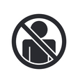 access forbidden icon vector image vector image