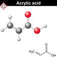 Acrylic acid molecule vector image vector image