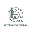 Alternative energy line icon alternative