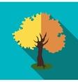 Autumn tree icon flat style vector image vector image