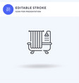 bathtub icon filled flat sign solid vector image vector image
