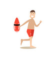 beach rescuer in flat style vector image
