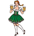 beer girl vector image