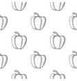 bell pepper seamless pattern outline hand drawn vector image vector image