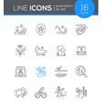 biodiversity - modern line design style icon set vector image