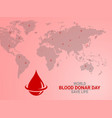 blood donation save life vector image