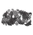 bracelet is designed in a swirling ribbon vintage vector image vector image