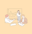 business people at a meeting concept vector image vector image