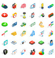 button icons set isometric style vector image vector image
