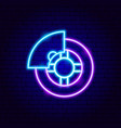car wheel neon sign vector image