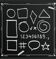 Chalkboard sketch symbols sign figure icons