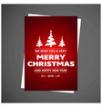 christmas card with red pattern background vector image