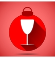 Christmas icon with the silhouette of Bakal on a vector image vector image