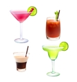 Cocktail realistic set vector image