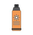 color image sun block spray bottle vector image