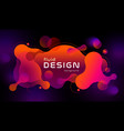 Colorful geometric background design fluid shapes