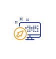 computer line icon web system sign monitor vector image