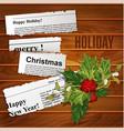 creative christmas background scraps newspaper vector image vector image