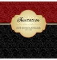 Dark red ornamental album cover vector image