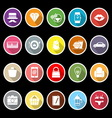 Department store item flat icons with long shadow vector image