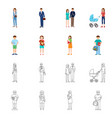 design of character and avatar logo vector image vector image