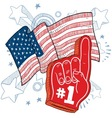 Doodle americana foam hand vector | Price: 1 Credit (USD $1)