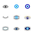 evil eye protection talisman collection vector image vector image
