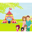 family goes to the circus vector image