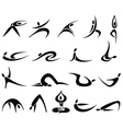 Fitness sport people icon vector image
