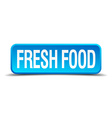 Fresh food blue 3d realistic square isolated vector image vector image