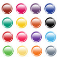glossy button set 2 vector image