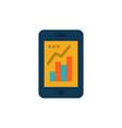 Graph analytics info graphic mobile mobile graph