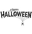 happy halloween text banner vector image