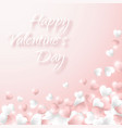 happy valentines day background pink and white vector image vector image