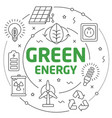 lines green energy vector image