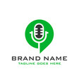 logo chat microphone vector image