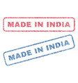 made in india textile stamps vector image vector image