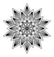 mandala design element vector image vector image