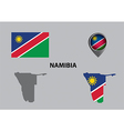 Map of Namibia and symbol vector image