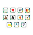 mobile button icon set vector image vector image